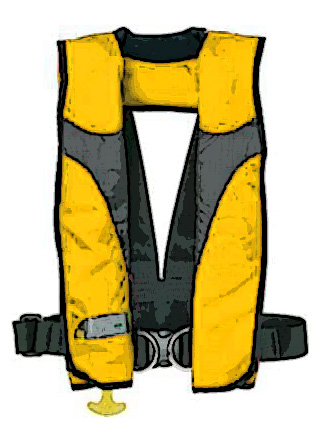 Inflatable PFD's automatically inflate when someone hits the water.