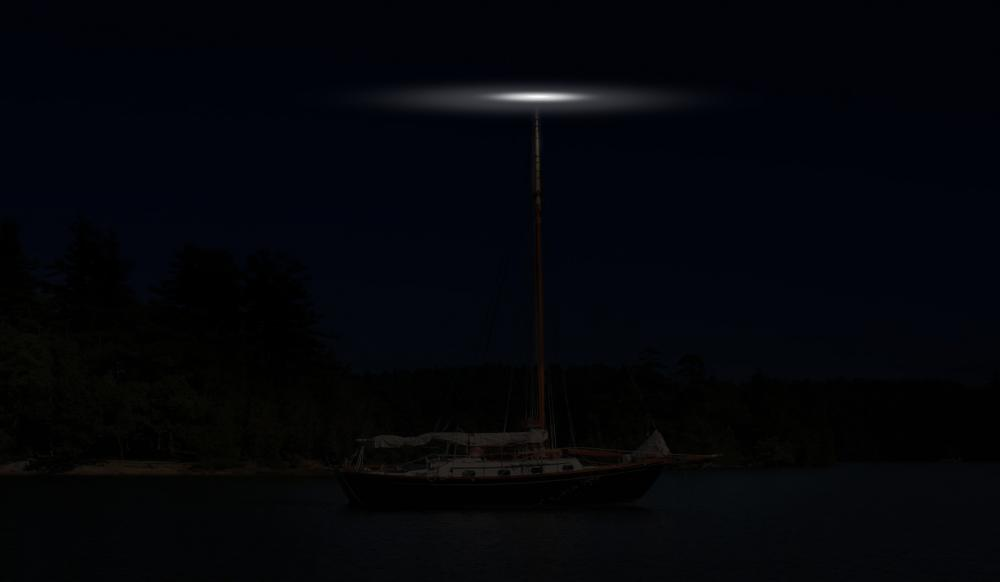 Recognizing anchored vessels by their lights
