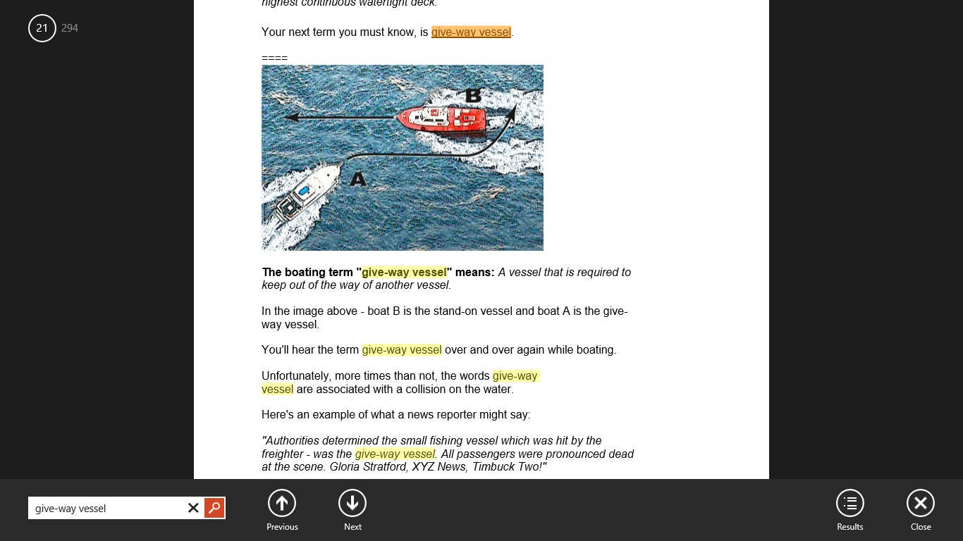 Search for the test answers with this boating exam cheat